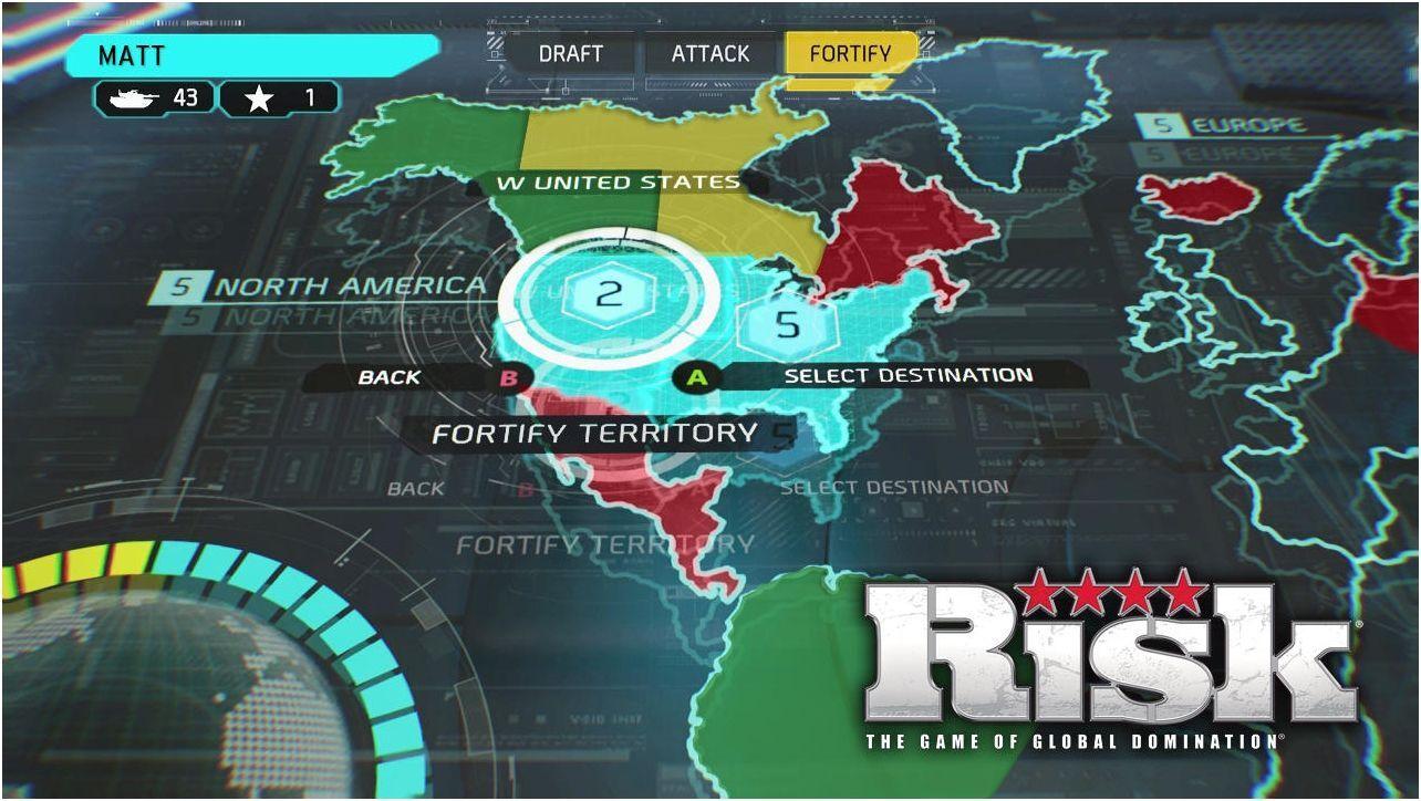 经典桌面策略游戏《大战役Risk》将登陆XB1和PS4