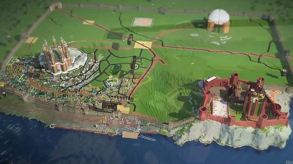 """《权力的游戏》""""真爱粉""""在MineCraft中重建维斯特洛大陆"""