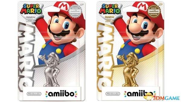 Amiibo也要出土豪金 马里奥手办推出金银限定版