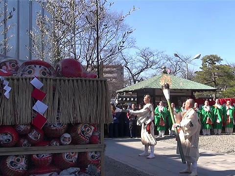 蒋丰带你逛日本之达摩供养焚烧仪式