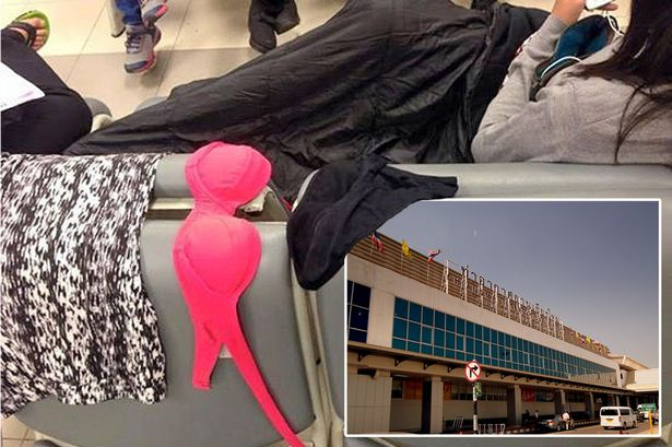 中国女游客泰国机场被曝晾晒文胸内裤
