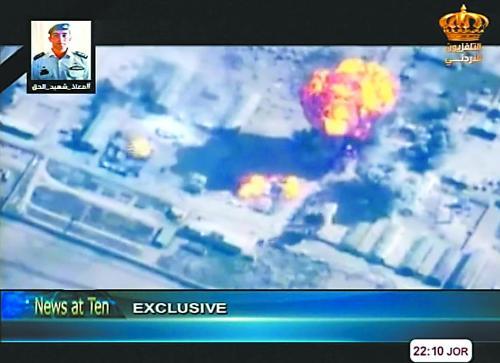 美战机为约旦报复性空袭IS护航 防止盟国噩梦重演