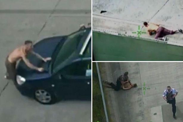 澳男子欲持枪抢劫不料被急驰汽车撞飞