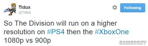 《全境封锁》X1再输PS4 1080p吊打900p画质