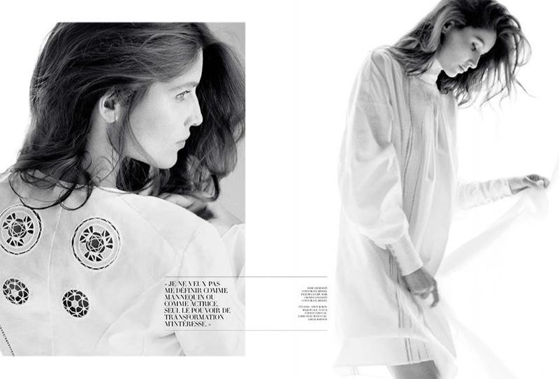 蕾蒂西娅·卡斯塔演绎《Dior》黑白时尚