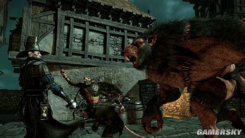 《战锤:末世鼠疫》最新截图 法师激战巨鼠