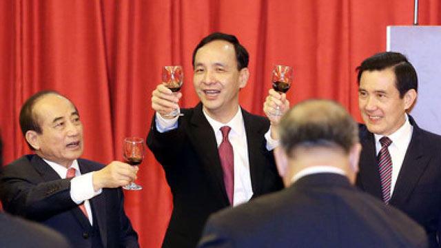 """蓝营""""三巨头""""举杯 王金平:一年内赢回人民信赖"""