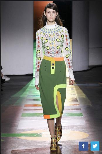 2015年秋冬伦敦时装周:Peter Pilotto品牌秀场