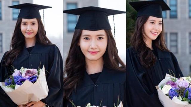 少时允儿六年后大学毕业 与男友李胜基成师兄妹