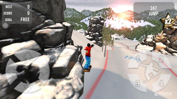 《疯狂滑雪 Crazy Snowboard》游戏截图