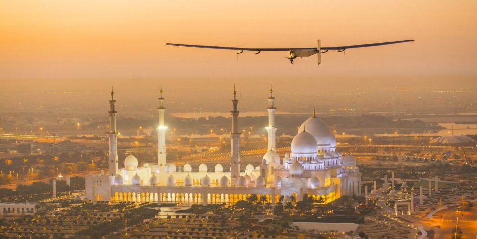 世界最大太阳能飞机阿联酋飞行