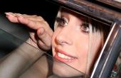 Lady Gaga鸵鸟装风情万种 心形订婚钻戒吸睛