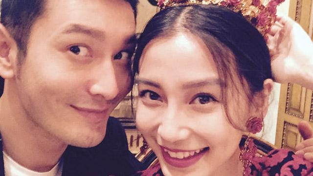Angelababy庆祝26岁生日 晒与黄晓明亲密合照