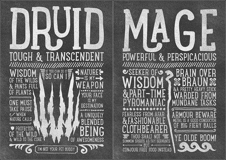 国外大神设计魔兽世界10职业版画