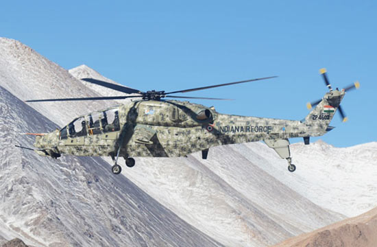 印度武直测试位置靠近中国西藏