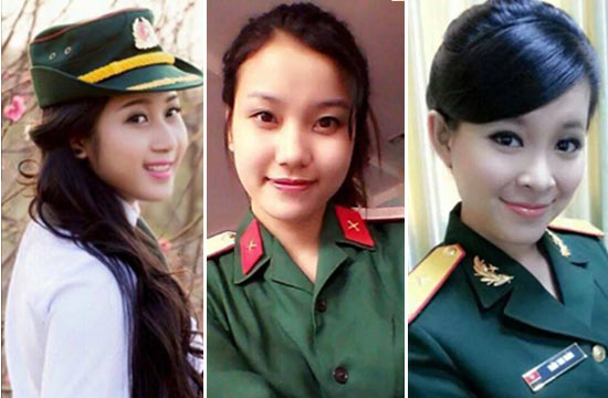 越南美丽女兵不一样的风采