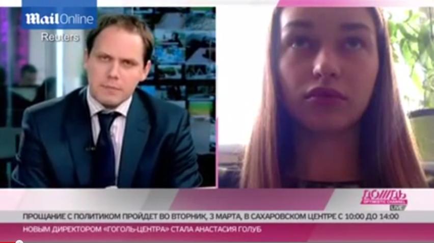 俄遭害反对党领袖模特情人称被禁止离开俄罗斯