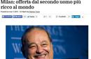 世界第二富有意入股米兰 电信巨头仅次比尔盖茨