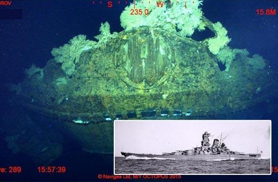 日本武藏号战列舰残骸被发现