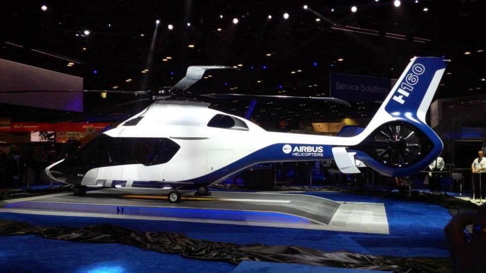 美国直升机展上空客发布全复合材料直升机h160