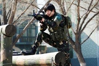 解放军特种部队女汉子霸气展示
