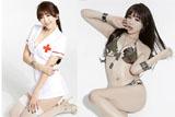 韩国车模女神扮性感护士