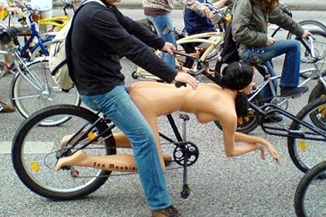 惊呆众人的搞怪自行车
