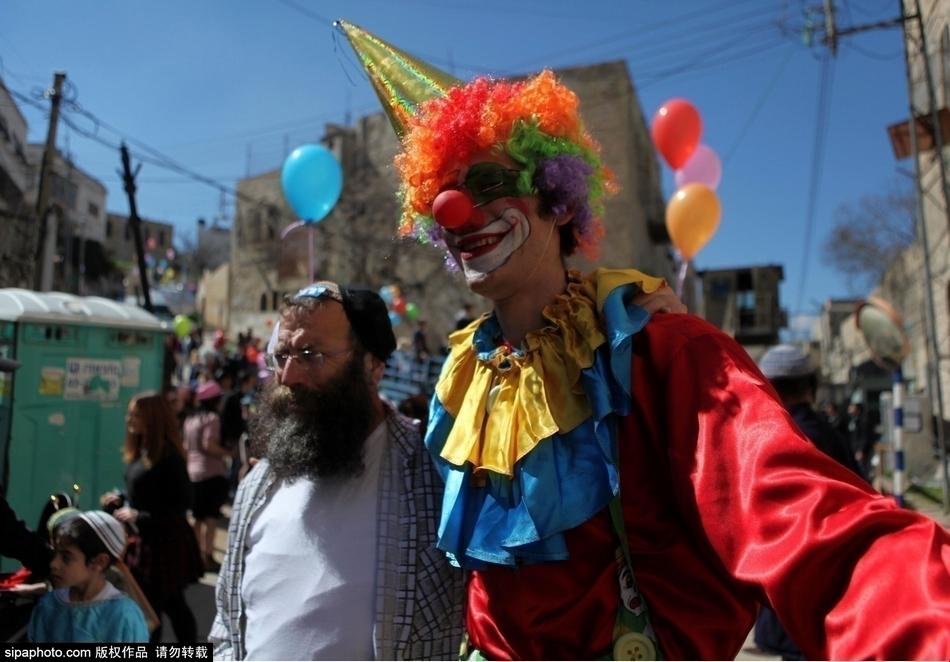 巴勒斯坦以色列定居者庆祝犹太教普林节