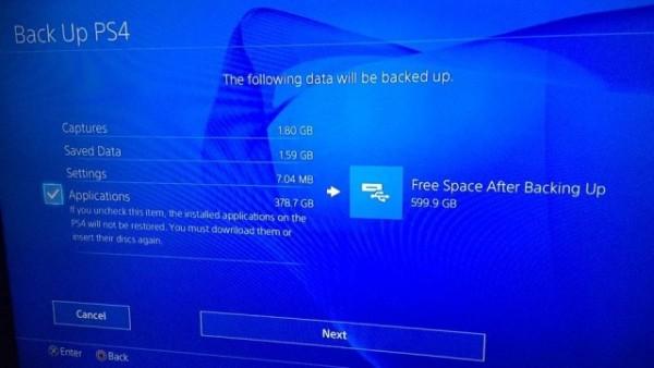 PS4 2.50测试固件功能曝光 可将游戏备份至外部存储