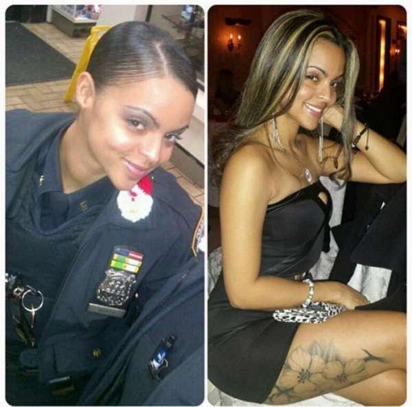 """""""Instagram""""上分享身着警察制服的性感照片,将面临纪律处分."""