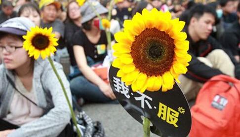 """社评:学运一周年,台湾只剩政治""""更繁荣"""""""