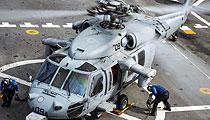 美军两栖攻击舰海鹰直升机