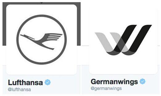 汉莎航空和德国之翼在推特上标志变更为黑白色(图)