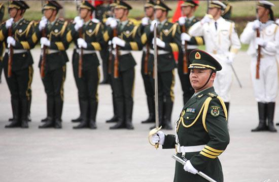 解放军三军仪仗队-中国军事图