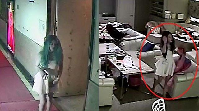 台湾女子离奇坠楼 监控中神态酷似蓝可儿