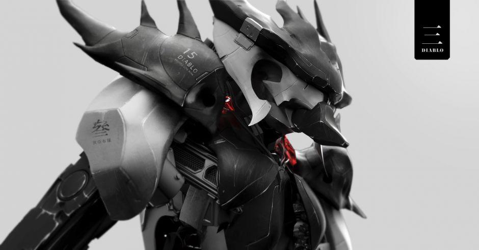 """暗黑3玩家作品:""""电子机械""""破坏神"""