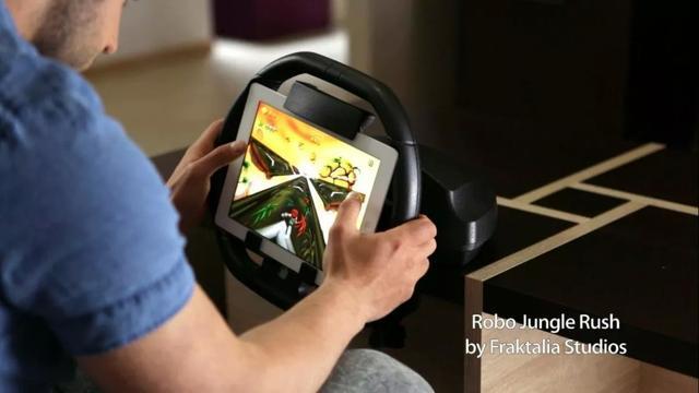 玩起来更爽 iPad赛车游戏方向盘KOLOS来了