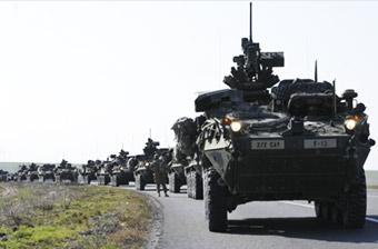 美军重装部队又出现在罗马尼亚