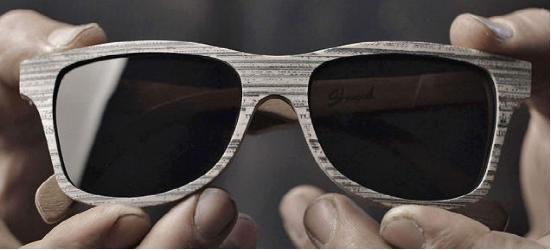 """惊呆了 shwood""""木框""""眼镜实际是用报纸制成图片"""
