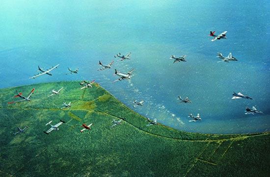 史上最强战机编队:不同型号多到超乎你想象