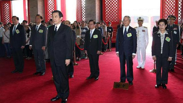 台湾当局领导人马英九在台北遥祭黄帝陵