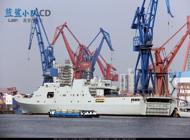 船厂实拍中国海军大批舾装中新舰