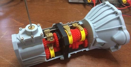 瞧瞧国外工程师的创意 3D打印出5档变速引擎