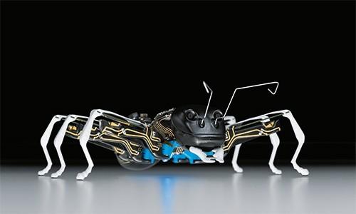 仿生蚂蚁BionicANTs的长度为13.5厘米,依靠两节7.2V电池运行.