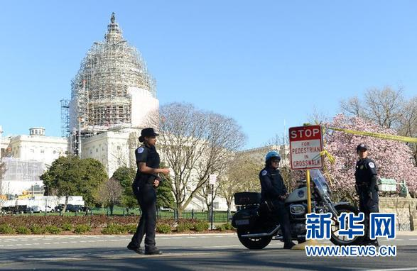美国国会大厦外一男子开枪自杀