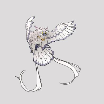 魔兽玩家手绘德鲁伊变形图