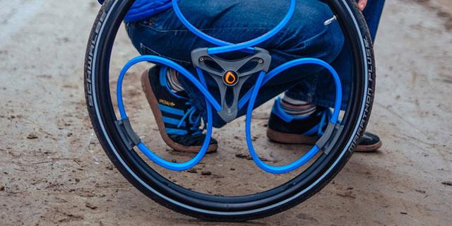 新型减震轮:轮椅和自行车的福音