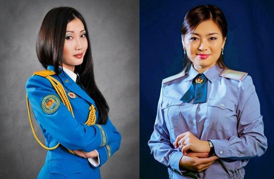 哈萨克女兵选美吸引男性入伍