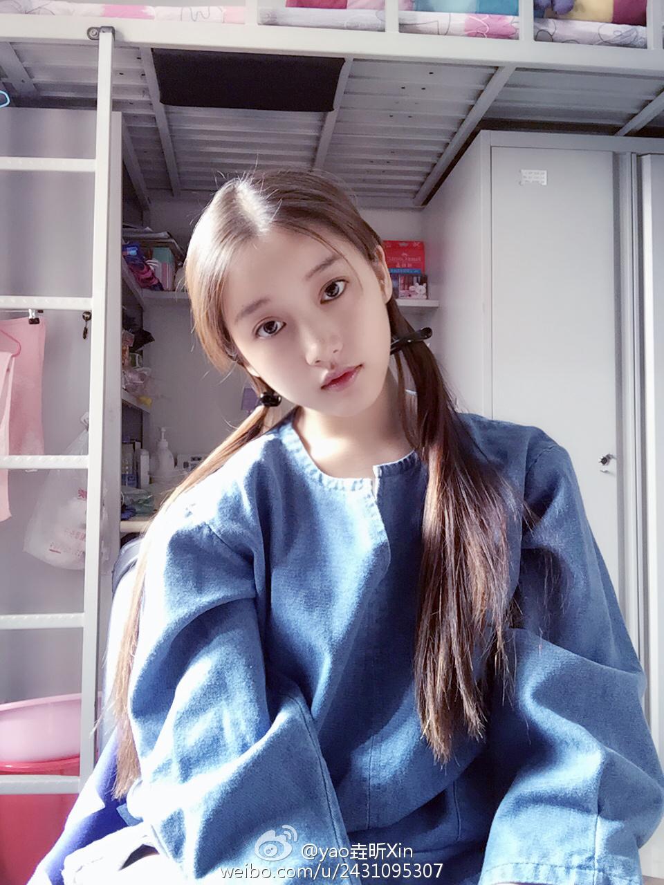 日本少女16岁人体_中戏18岁美女学霸走红 清新写真着背带裤卖萌_娱乐_环球网