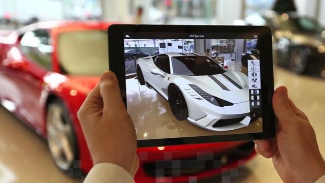 法拉利让你用iPad和超级跑车进行虚拟互动